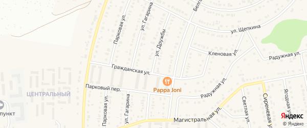 Улица Дружбы на карте Северного поселка с номерами домов