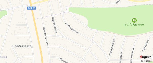 Улица Отважных на карте Никольского села с номерами домов