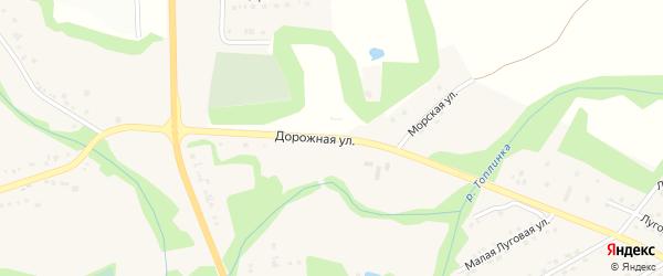 Дорожная улица на карте Никольского села с номерами домов