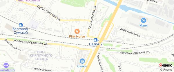 Харьковская улица на карте Белгорода с номерами домов