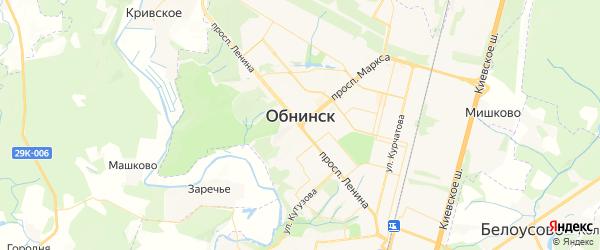 Карта Обнинска с районами, улицами и номерами домов
