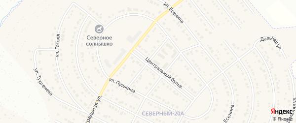 Улица Некрасова на карте Северного поселка с номерами домов