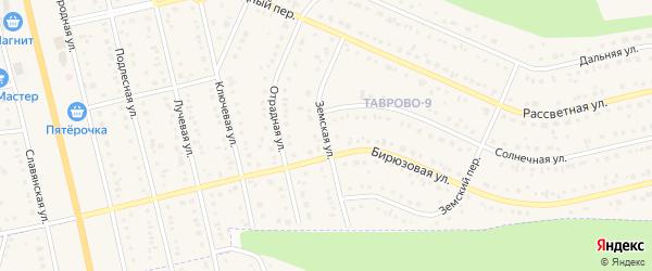 Земская улица на карте Таврово 9-й микрорайона с номерами домов
