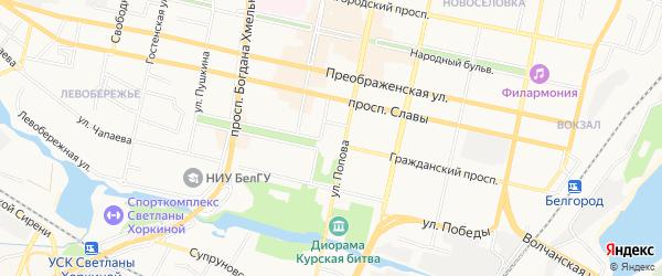 СТ Медик на карте Белгорода с номерами домов