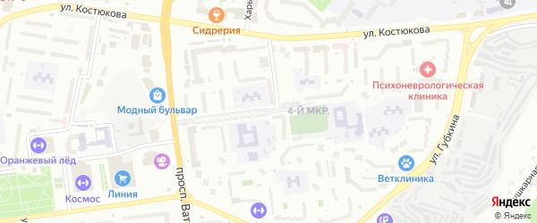 Бульвар 1 Салюта на карте Белгорода с номерами домов