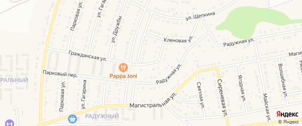 Белгородский переулок на карте Северного поселка с номерами домов