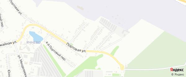 Портовый 2-й переулок на карте Белгорода с номерами домов