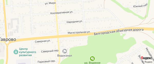 Магистральная улица на карте Таврово 1-й микрорайона с номерами домов