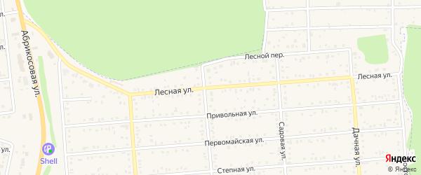 Лесная улица на карте Таврово 2-й микрорайона с номерами домов
