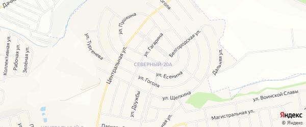 СТ Ветерок-93 совхоз Северный на карте Северного поселка с номерами домов