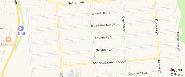 Зеленая улица на карте Таврово 2-й микрорайона с номерами домов