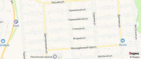 Зеленая улица на карте Таврово 5-й микрорайона с номерами домов