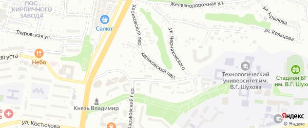 Харьковский переулок на карте Белгорода с номерами домов