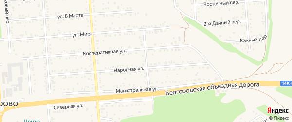 Магистральный переулок на карте Таврово 2-й микрорайона с номерами домов