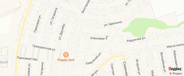 Кленовая улица на карте Северного поселка с номерами домов