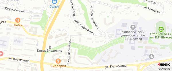 Академическая улица на карте Белгорода с номерами домов