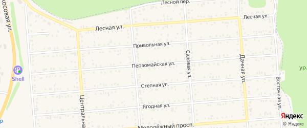 Первомайская улица на карте Таврово 2-й микрорайона с номерами домов