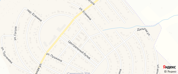 Улица Есенина на карте Северного поселка с номерами домов