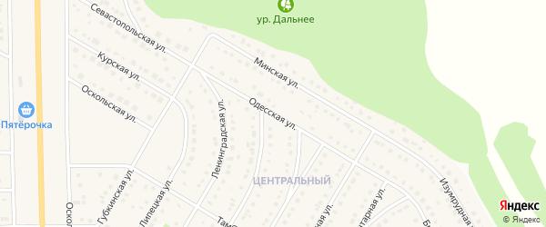 Одесская улица на карте Никольского села с номерами домов