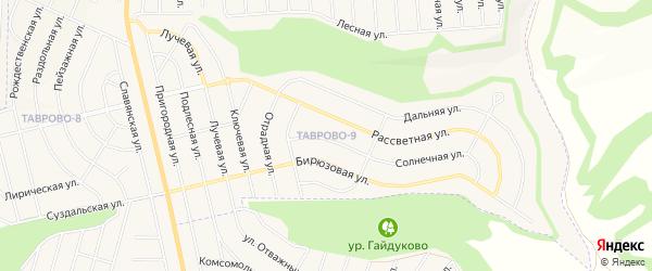 Карта Таврово 9-й микрорайона в Белгородской области с улицами и номерами домов