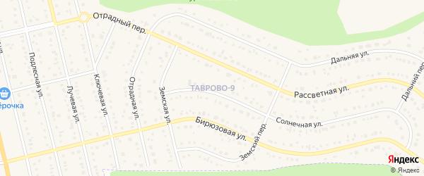 Листопадная улица на карте Таврово 9-й микрорайона с номерами домов