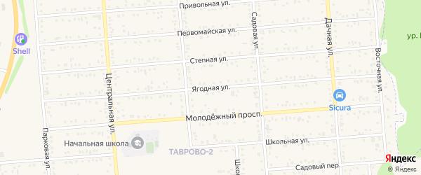 Ягодная улица на карте Таврово 4-й микрорайона с номерами домов