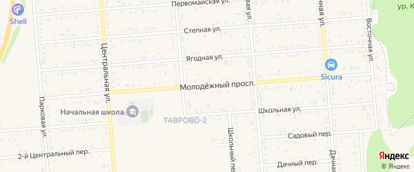 Молодежный проспект на карте Таврово 2-й микрорайона с номерами домов