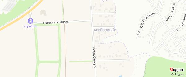 Поддубная улица на карте поселка Дубового с номерами домов