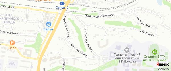 Улица Черняховского на карте Белгорода с номерами домов