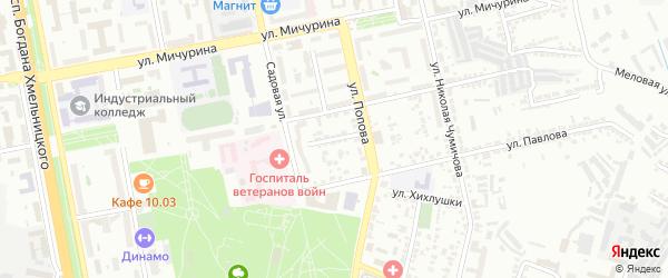 Садовый проезд на карте Белгорода с номерами домов