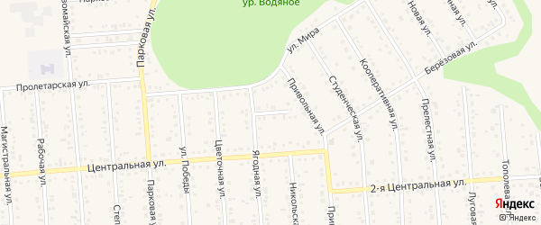Ягодный переулок на карте Таврово 4-й микрорайона с номерами домов