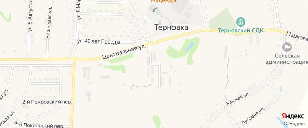 Молодежная улица на карте села Терновки с номерами домов