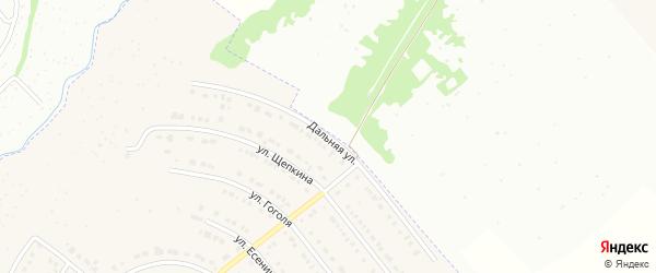 Дальняя улица на карте Северного поселка с номерами домов