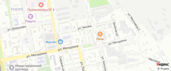 Мичуринский 2-й переулок на карте Белгорода с номерами домов