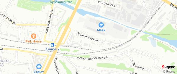 Зареченская улица на карте Белгорода с номерами домов