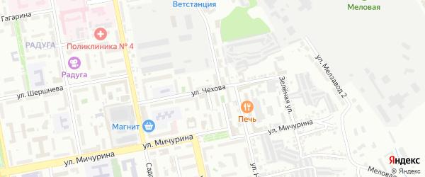 Улица Чехова на карте Белгорода с номерами домов