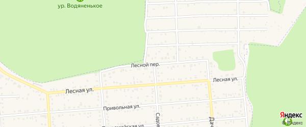 Лесной переулок на карте Таврово 2-й микрорайона с номерами домов