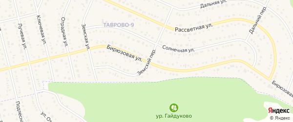 Бирюзовая улица на карте Таврово 9-й микрорайона с номерами домов