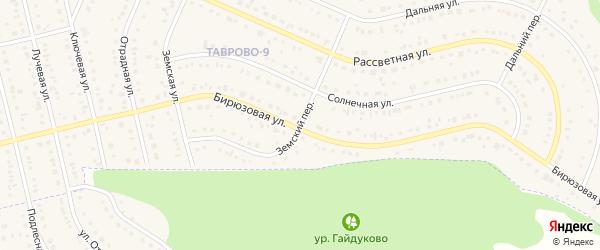 Земский переулок на карте Таврово 9-й микрорайона с номерами домов