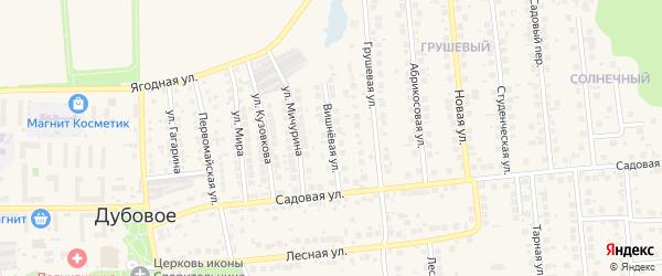 Вишневая улица на карте поселка Дубового с номерами домов
