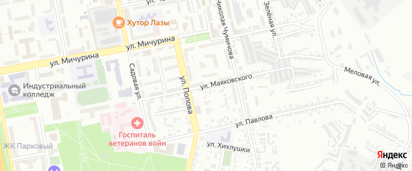 Улица Маяковского на карте Белгорода с номерами домов
