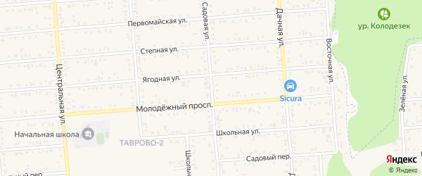 Садовая улица на карте Таврово 2-й микрорайона с номерами домов