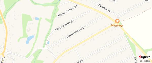 Приреченская улица на карте Никольского села с номерами домов
