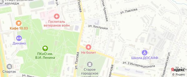 Улица Ломоносова на карте Белгорода с номерами домов
