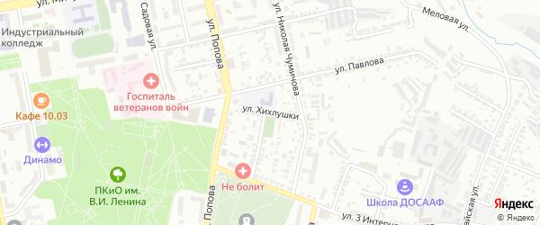 Улица Хихлушки на карте Белгорода с номерами домов