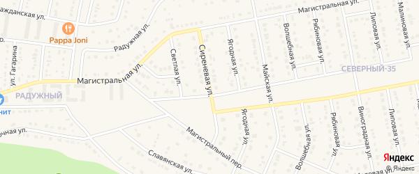 Сиреневая улица на карте Северного поселка с номерами домов