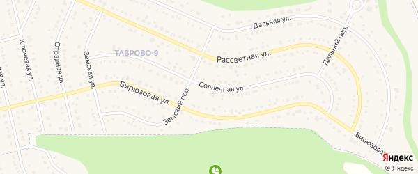 Солнечная улица на карте Таврово 9-й микрорайона с номерами домов
