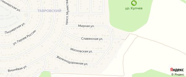 Славянская улица на карте Никольского села с номерами домов