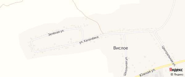 Улица Калачевка на карте Вислого села с номерами домов