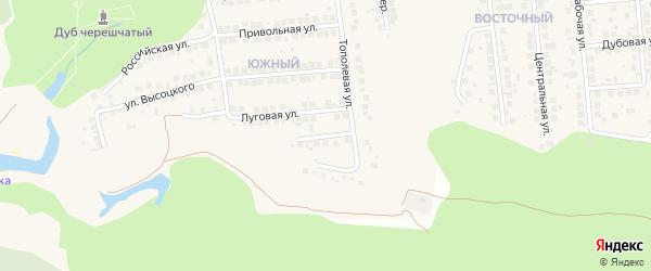 Тополевый переулок на карте поселка Дубового с номерами домов